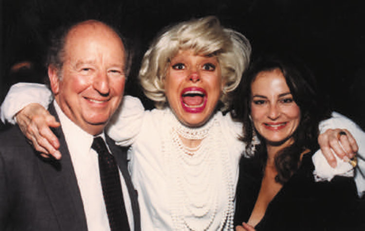 Herb Caen and Carol Channing