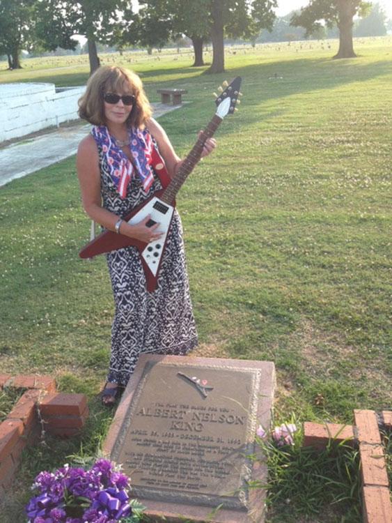 at Albert King's grave